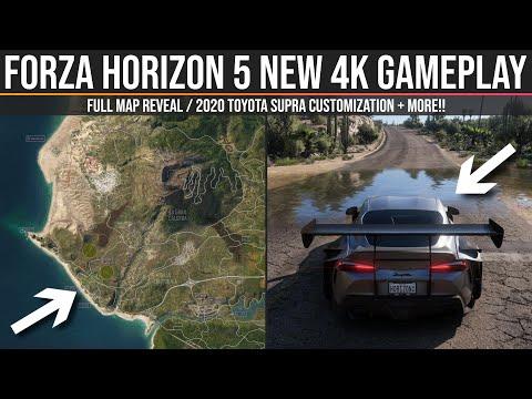 Forza Horizon 5 – NEW 4K Gameplay – 2020 Toyota Supra Customization / Full Map Reveal + MORE!!