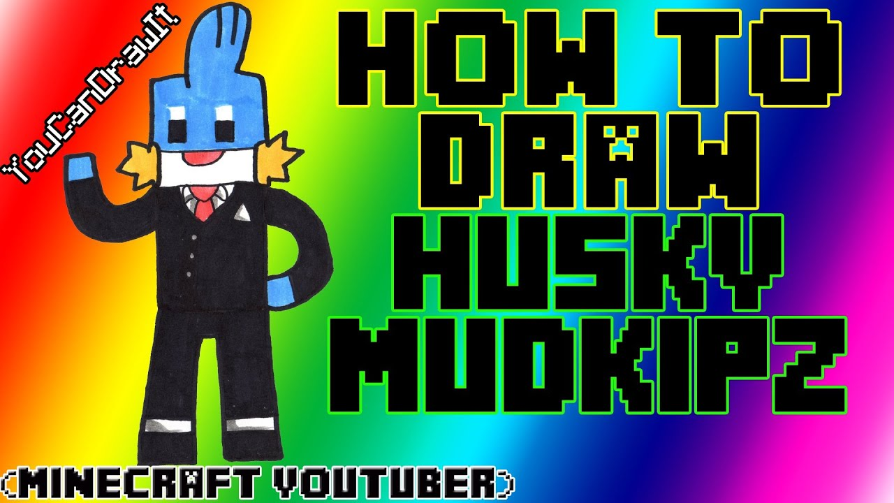 how to draw huskymudkipz minecraft youtubers youcandrawit
