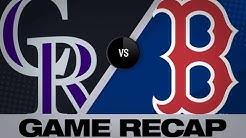5/15/19: Chavis' walk-off in 10th leads Sox past Rox