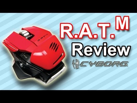 New CYBORG R.A.T. M Wireless Mouse! Review & Demo! (MadCatz)