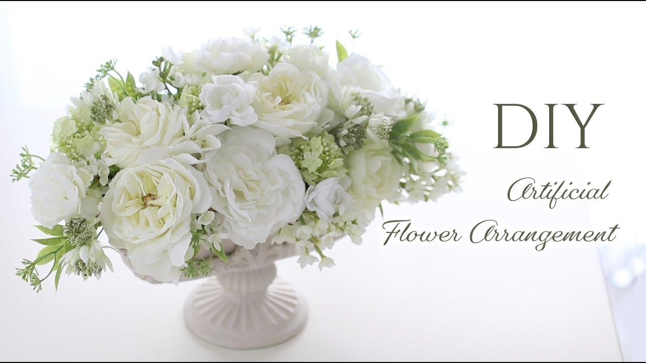 100均ダイソー、セリアの造花で玄関フラワーアレンジメントの作り方。母の日の手作りプレゼント。