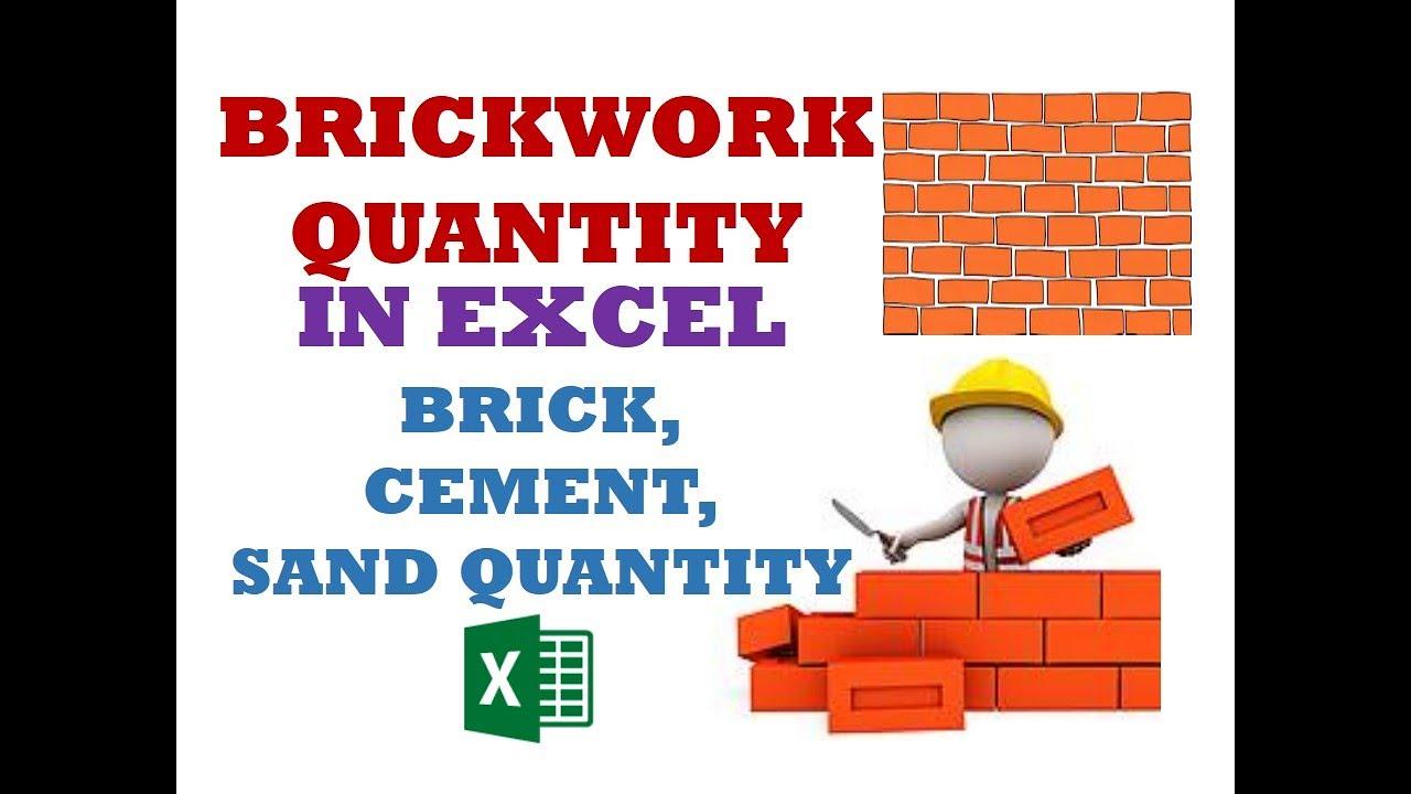 How many cubed bricks: table, calculations, formula