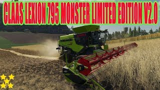 "[""CLAAS LEXION 795 MONSTER LIMITED EDITION V2.0"", ""FS 19 Mod Vorstellung Farming Simulator :CLAAS LEXION 795 MONSTER LIMITED EDITION"", ""CLAAS LEXION 795"", ""CLAAS LEXION""]"