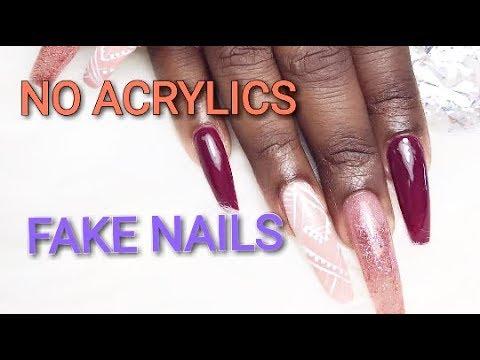 NO ACRYLICS Easy Fake Long Nails At Home With Straws