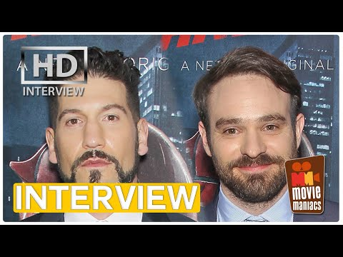 Daredevil & The Punisher - Charlie Cox & John Bernthal - Daredevil Season 2 interview (2016)