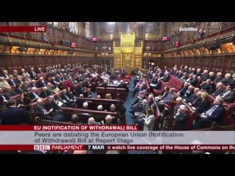 House of lords vote against 2nd referendum. Lord Newby reaction. 7th March 2017