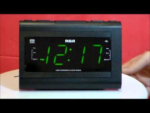 rca rc142 large display clock radio with phone charger youtube rh youtube com RCA Rp5435 RCA Dual Clock Radio Manual