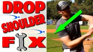 Baseball Hitting Fix: Dropping Back Shoulder | Pro Speed Baseball