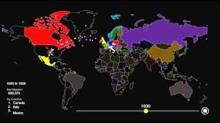 Everyone Who Immigrated to the U.S. Since 1820 (1 dot = 10,000 people) thumbnail