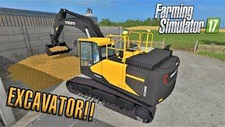 Farming Simulator 2017   EXCAVATOR!   Sandy Bay   Episode 7