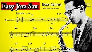 Paul Desmond - Bossa Antigua Transcription (Easy Saxophone Jazz)
