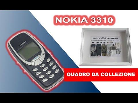Nokia 3310 vecchio modello smontaggio completo e realizzazione quadro da collezione