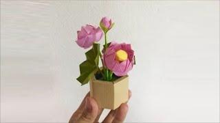 Tutorial: Origami Lotus Flower Origami - PaperPh2