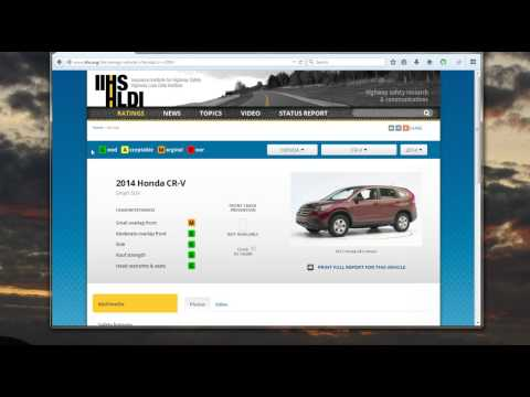 How to look up Auto Safety Reviews from Insurance Institue for Highway Safety