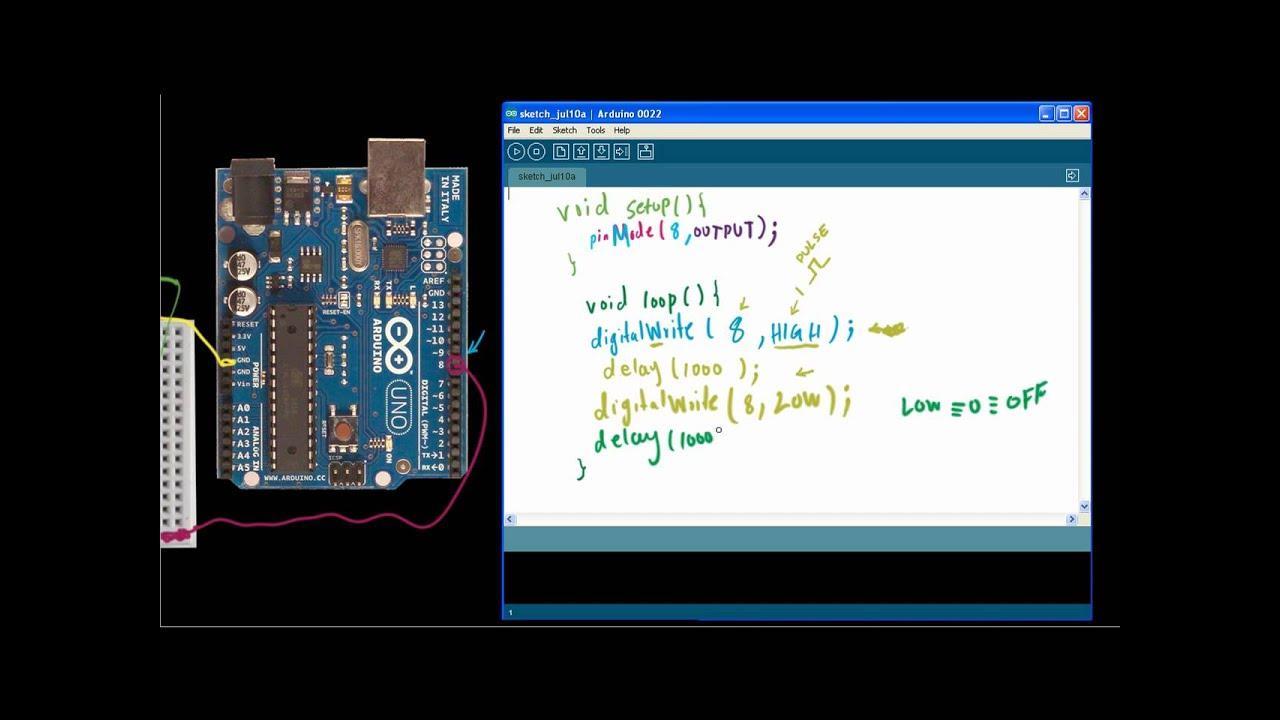 Arduino tutorial programming led miniarduino