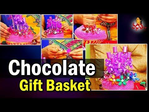 making-of-easy-chocolate-flower-bouquet-||-chocolate-gift-baskets-||-vanitha-nestam-||-vanitha-tv