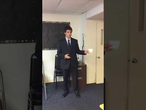 Caleb Jackson Sunnybrook Christian Academy Speech Public Speaking