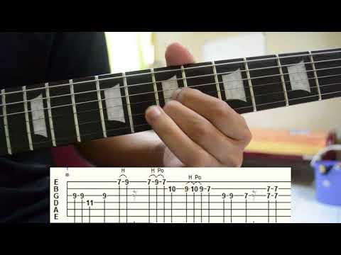 Bercanda di Malam Indah Lead Guitar Tutorial  w/Tab