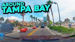 Driving around Tampa Bay - Odessa, Clearwater Beach, Treasure Island, St. Petersburg and Tampa