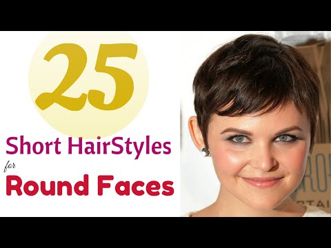 Top 25 Short Hairstyles for Round Faces