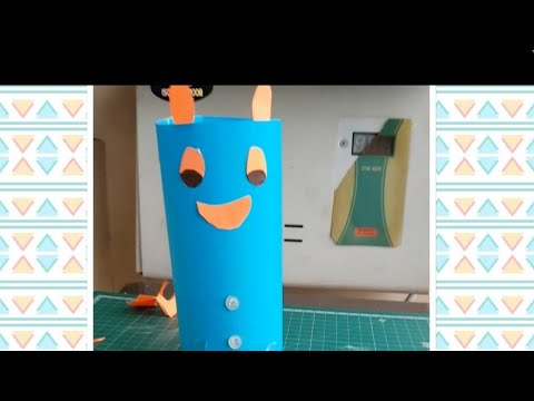 How to make DIY paper pen holder +collaboration with aniksha's creativity