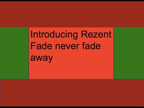 Introducing Rezent Fade-Rays