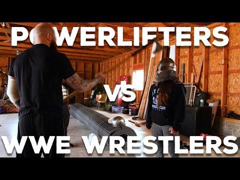 Powerlifters VS WWE Wrestlers | Ft Sarah Logan & Erik Rowe