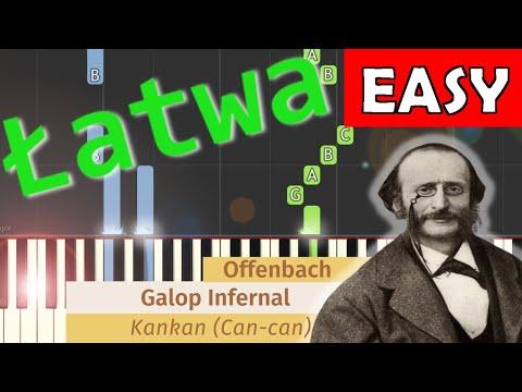 🎹 Galop/Kankan (J. Offenbach) - Piano Tutorial (łatwa wersja) 🎹 (EASY)