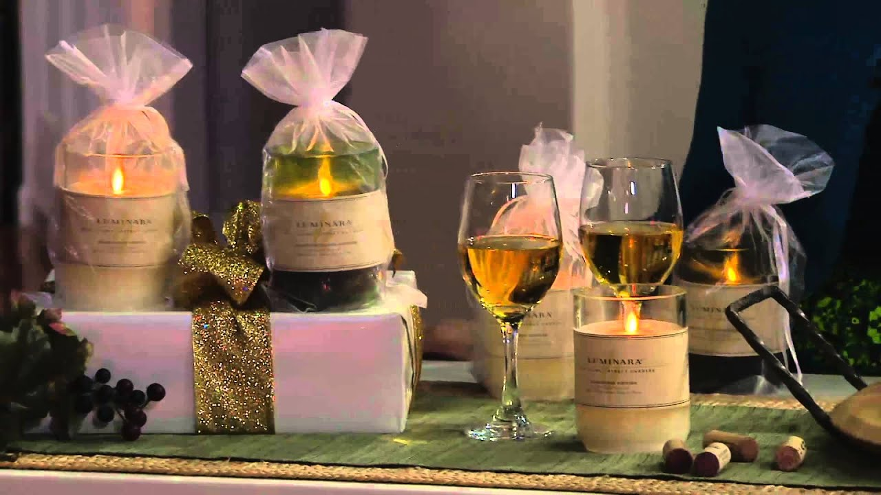 Luminara Flameless Candle in Wine Bottle with Gift Bag on ...