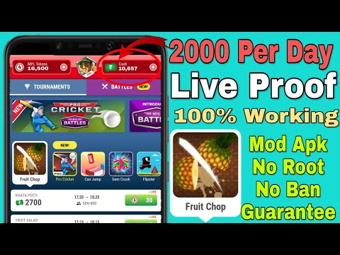 [Trick]2000 in One Hour,Mpl Pro App Secret Trick,Mod Apk No Ban Guarantee(Expired) 1