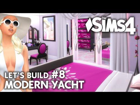 Yacht bauen in Die Sims 4 | Let's Build #8 Hafen Grundstück mit modernem Boot