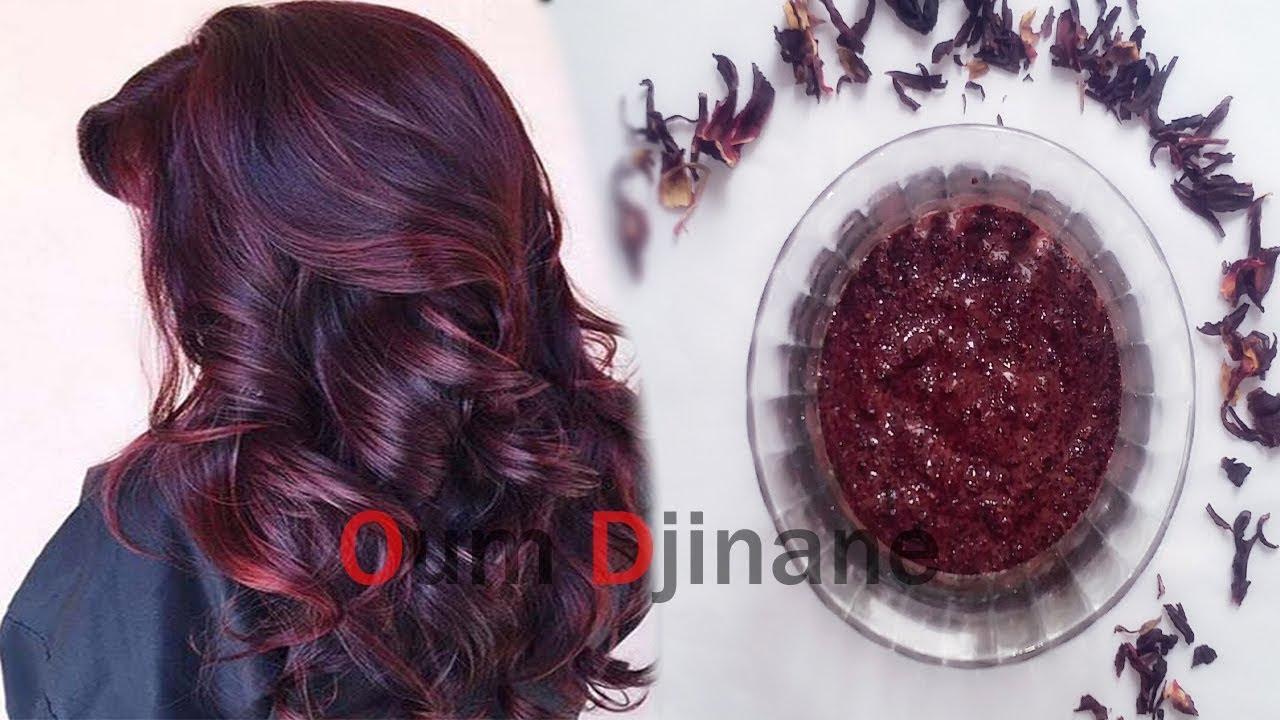 لعشاق الشعر الأحمر الارجواني باستعمالك لوصفة الكركدية احصلي على اروع لون لمعانا وجاذبية Youtube