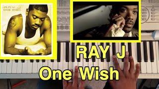 "RAY J ""One Wish "" (PIANO TUTORIAL) F minor"