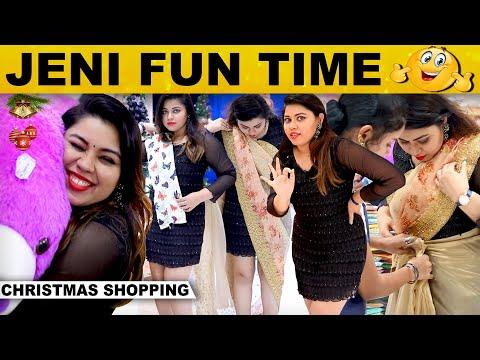 Thalapathy தங்கச்சி Jenifer-ன் கலக்கல் Christmas Special Shopping..!   Velavan Stores   Chennai   HD