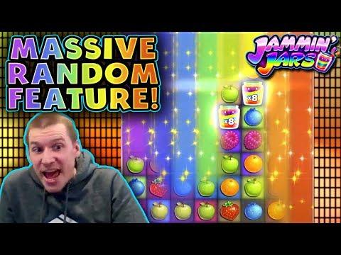 INSANE WIN On Jammin' Jars Slot - £10 Bet *Random Feature FTW!!*