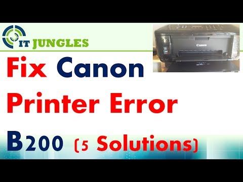 FIXED: Canon Printer Error B200 With 5 Different Solutions