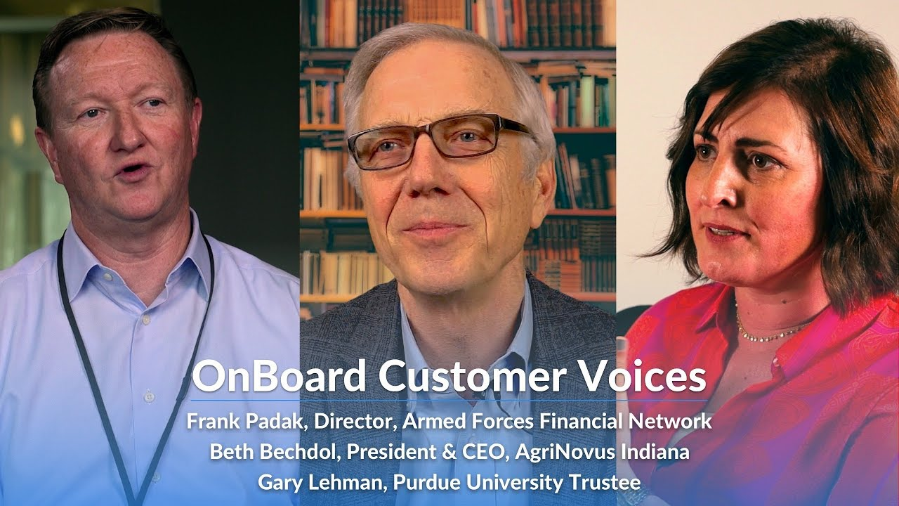 OnBoard - Director Voices: Real Directors and CEOs on How Board Management Software Drives Value.