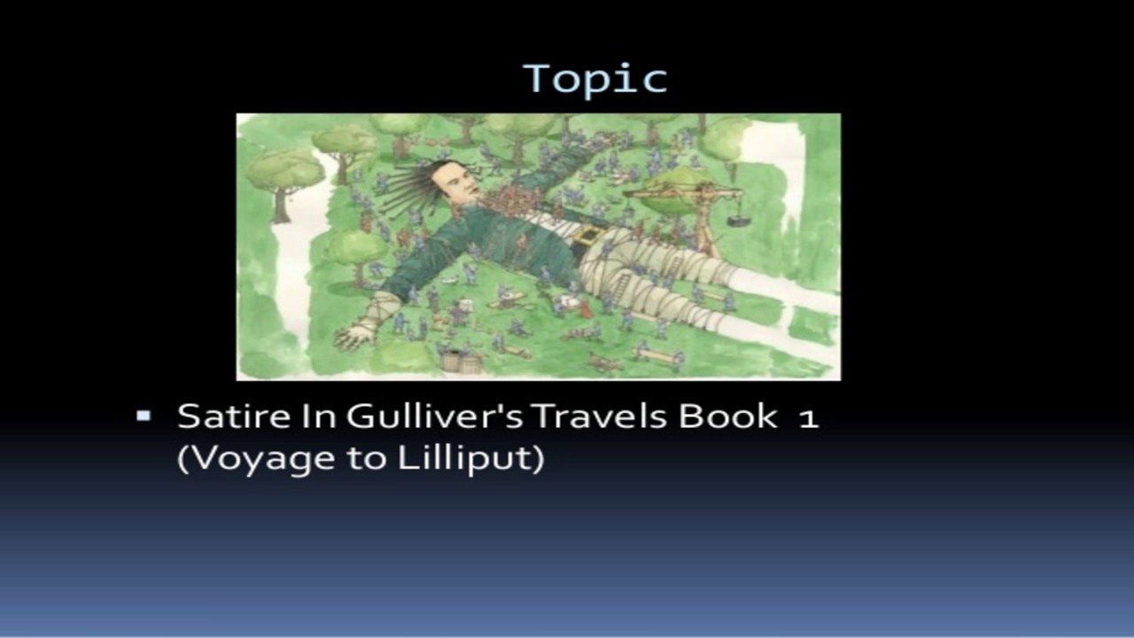 Satire In Gulliver S Travels English Literature Short Questions