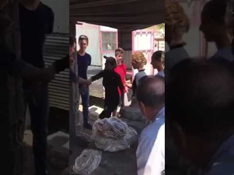 Syrian President Bashar Al Assad and his family make a surprise visit to a wounded soldiers bakery