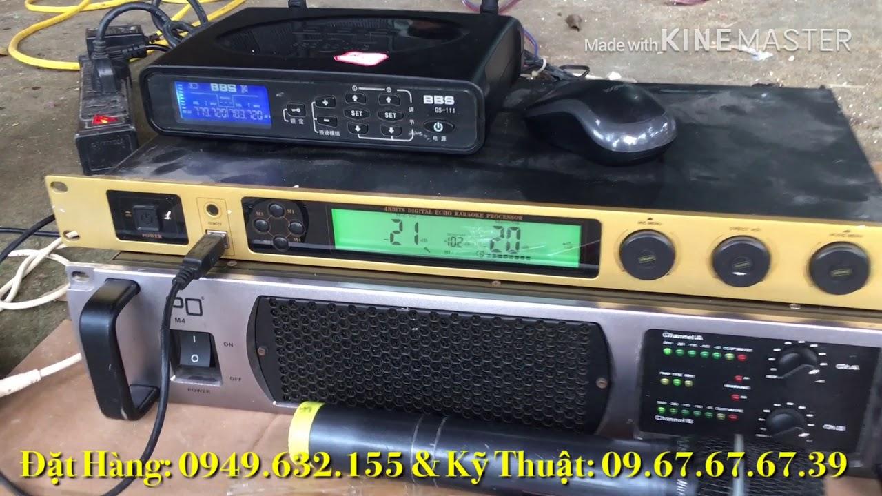 SET DÀN KARAOKE Ablum Loa B3 J212 , Đẩy PO M4, Vang Theta K6, Mic BBS