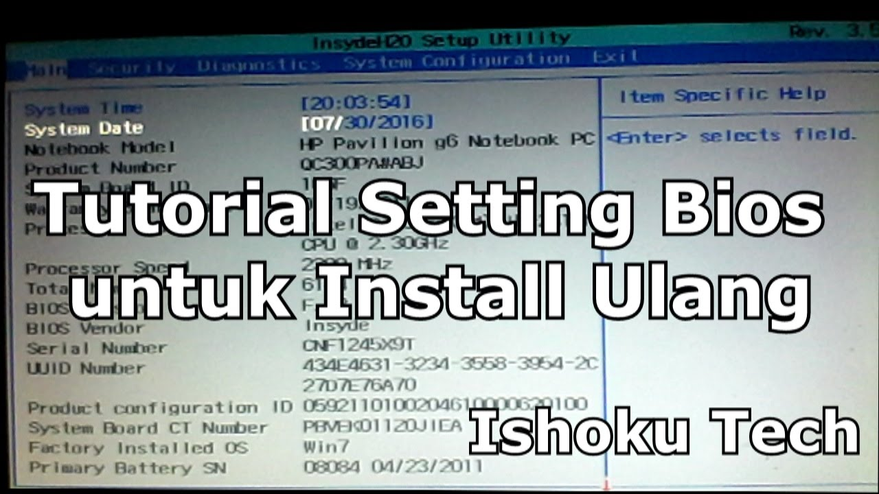 Ishokutech Tutorial Cara Masuk Bios Setup Nb Laptop Hp All 14 Am517tu Black Version Dan Keterangannya