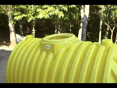A 500 gallon septic tank for a cache or small underground shelter