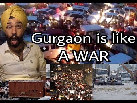 Going Delhi to Gurgaon is like A WAR | Gurgaon Jam