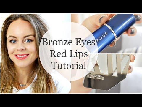 Mineral Makeup Tutorial : Bronze Eyes + Red Lips