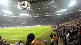 FC Schalke 04 gegen Real Madrid (Vereinslied+Stimmung+Einlauf)