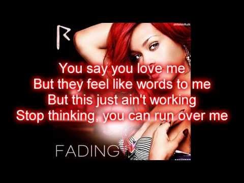 Rihanna  Fading Lyrics on Screen HD