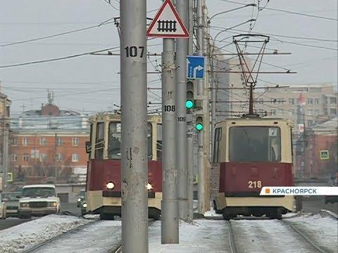 Водители трамваев Красноярска пожаловались на работу без кондукторов