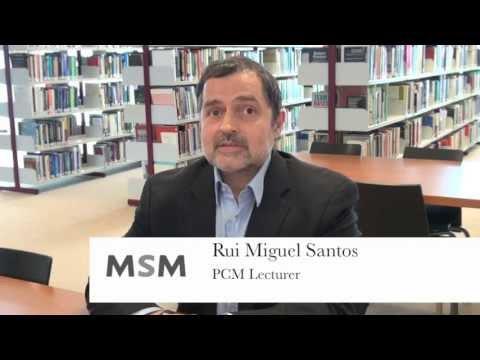 Rui Miguel Santos, PCM Lecturer