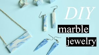 DIY Marble Clay Jewelry | INDONESIA