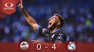 Resumen Lobos BUAP 0 - 4 Puebla | Clausura 2019 - Jornada 12 | Televisa Deportes*